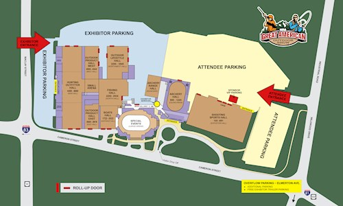 Great American Outdoor Show Parking Map